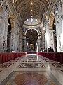 Řím, Svatopetrská bazilika, interiér od vchodu.jpg