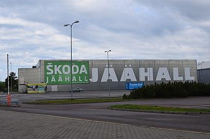 Kuidas ühistranspordiga sihtpunkti Škoda Jäähall jõuda - kohast