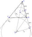 Ілюстрація до деведення формули Герона за допомогою зовнівписаного кола.png