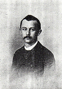 Old photograph of mustachioed young man