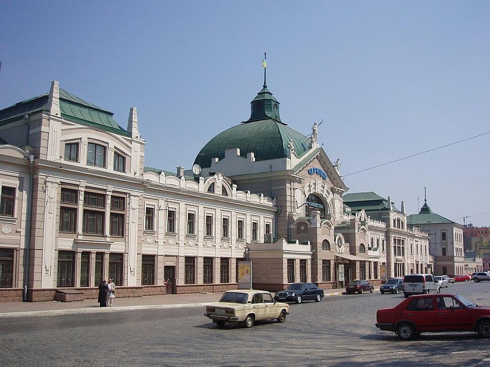 Залізничний вокзал Чернівці квітень 2009 (2)