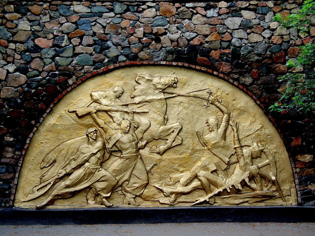 Памятник в честь битвы войск Хмельницкого и Речи Посполитой