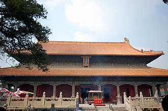 Temple of Confucius - Hall of Great Perfection (Dacheng Hall) of the Confucius temple in Qufu
