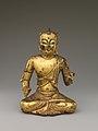遼 青銅鎏金五髻文殊菩薩像-Manjushri, Bodhisattva of Wisdom, with Five Knots of Hair (Wuji Wenshu) MET DP170208.jpg