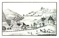 065 Schloss Goppelsbach, Stadl an der Mur, S. Kölbl - J.F.Kaiser Lithografirte Ansichten der Steiermark 1830.jpg
