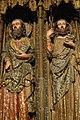 08 Pòrtic de S. María de los Reyes, detall de dos apòstols.JPG