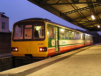 Valley Lines (train operating company) - Image: 143607 at Gloucester