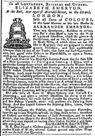 1743 Bell advertisement in Country Journal or The Craftsman London February12.png