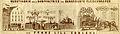 1860er Jahre Wurstfabrik durch Dampfbetrieb und geräucherte Fleischwaaren von Franz Lill Coblenz (Vater von Edmund Lill in Koblenz), Ansicht des Gebäudes und der Prodkution, Damen mit Krinoline.jpg