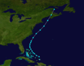1877 Atlantic tropical storm 1 track.png