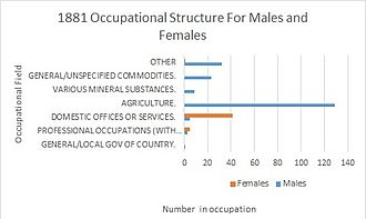 Roxwell - Image: 1881 occupational structures