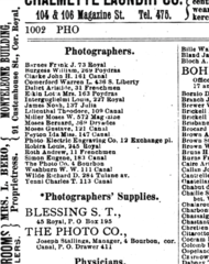 1894 photographers New Orleans city directory.png