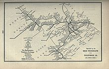 Northwestern Bell Wikipedia - Historical map of bell telephone coverage in the us