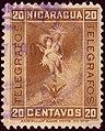 1900 20c Nicaragua Telegrafos used YvT70.jpg