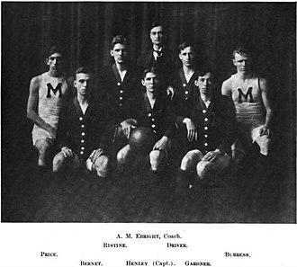 1907–08 Missouri Tigers men's basketball team - Image: 1907 08 Missouri Tigers Men's Basketball Team
