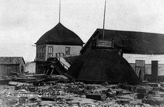 1910 Cuba hurricane - La Brisa, a building destroyed by the hurricane in Key West
