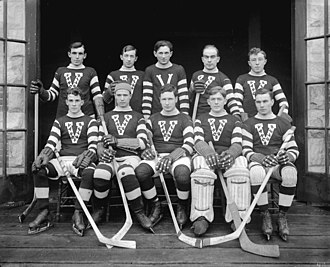 Sibby Nichols - Nichols, second from left in the back row, with the 1913–14 Vancouver Millionaires.