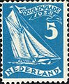 1928 Summer Olympics stamp of the Netherlands sailing.jpg