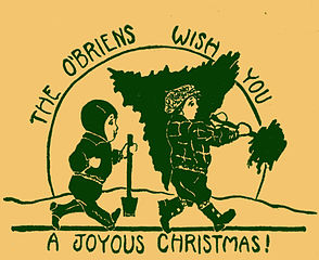 Christmas card of the 1930s