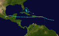 1931 Atlantic hurricane 7 track.png