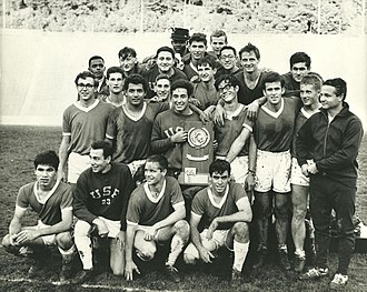 1966 San Francisco Dons men's soccer team - The team after winning the Championship in Berkeley, California