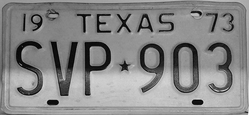File:1973 Texas license plate SVP*903.jpg