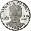 1998 Robert Kennedy Proof Dollar (obverse).jpg