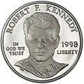 1998 Robert Kennedy Proof Dollar (obverse).jpg