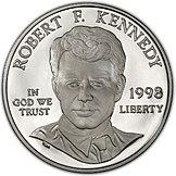 1998 Robert Kennedy Proof Dollar (Vorderseite).jpg