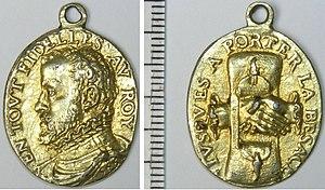Geuzen medals - Geuzen medal by Jacques Jonghelinck, cast silver, original gilt, 1566