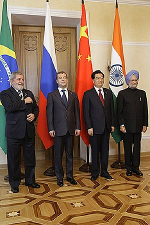 Foreign relations of Brazil - BRIC (Brazil, Russia, India and China) leaders during the 1st BRIC summit in 2009.