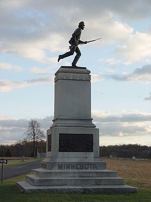 Monument to the 1st Minnesota Infantry at Gett...