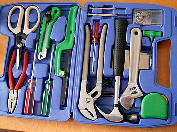 A toolbox, from Biltema)