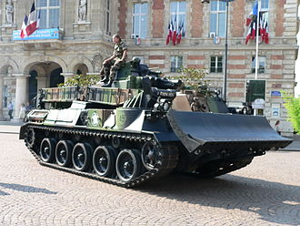 Military engineering vehicle - The EBG combat engineering vehicle, based on the AMX 30 tank, is used by the engineers of the French Army for a variety of missions.