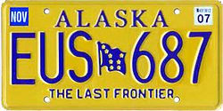 Vehicle registration plates of Alaska