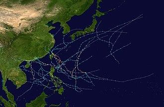 2008 Pacific typhoon season - Image: 2008 Pacific typhoon season summary