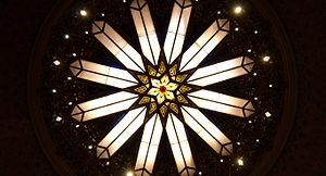 Congregation Rodeph Shalom (Philadelphia) - Rodeph Shalom Synagogue's sanctuary ceiling