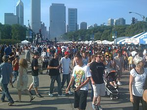 Taste of Chicago - Large crowds at the Taste of Chicago, 2011