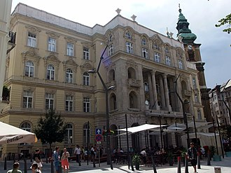 Eötvös Loránd University - The Faculty of Law and Political Sciences in Budapest historical downtown, one of the largest educational base of the Hungarian political elite