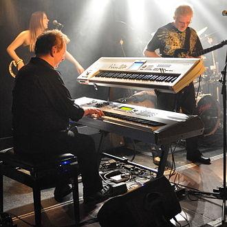 Bill Sharpe (musician) - Bill Sharpe as Member of Shakatak in Wuppertal, Germany (2014)