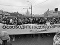 2015-03-01 Шествие памяти Немцова L1510360 Free Savchenko bw.jpg