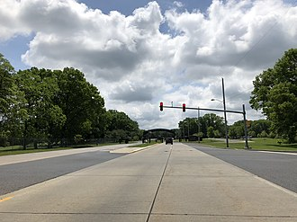 New Hanover Township, New Jersey - Route 68 in New Hanover Township at the entrance to Joint Base McGuire–Dix–Lakehurst