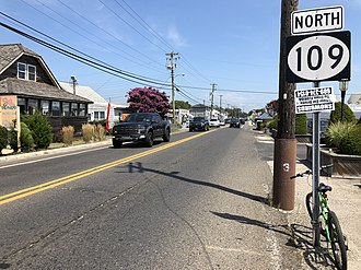 New Jersey Route 109 - Route 109 entering Lower Township