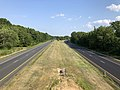 2019-07-28 17 17 29 View south along Interstate 695 (Baltimore Beltway) from the overpass for Beachwood Road in Dundalk, Baltimore County, Maryland.jpg