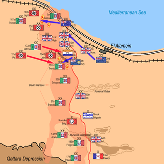 Second Battle of El Alamein. Situation on 28 October 1942 2 Battle of El Alamein 010.png