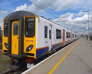 British Rail Class 317 - London Overground Class 317/7 No. 317719 at Romford