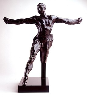 <i>Standing Mercury</i> sculpture by auguste Rodin