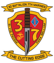3rd Battalion, 7th Marines modern insignia, current 2018-present.