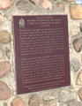4th Duke of Richmond, plaque.png