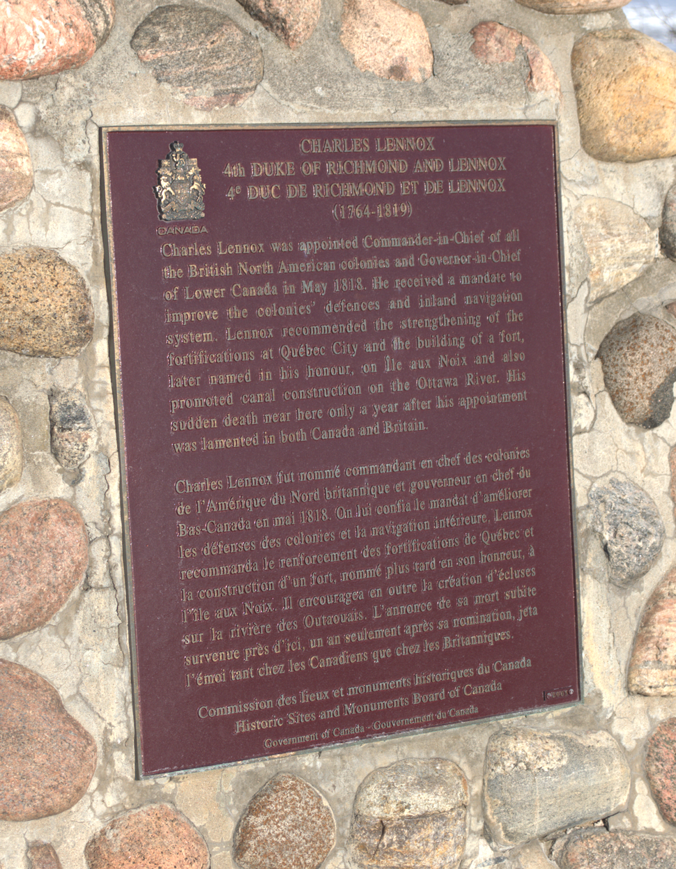 4th Duke of Richmond, plaque